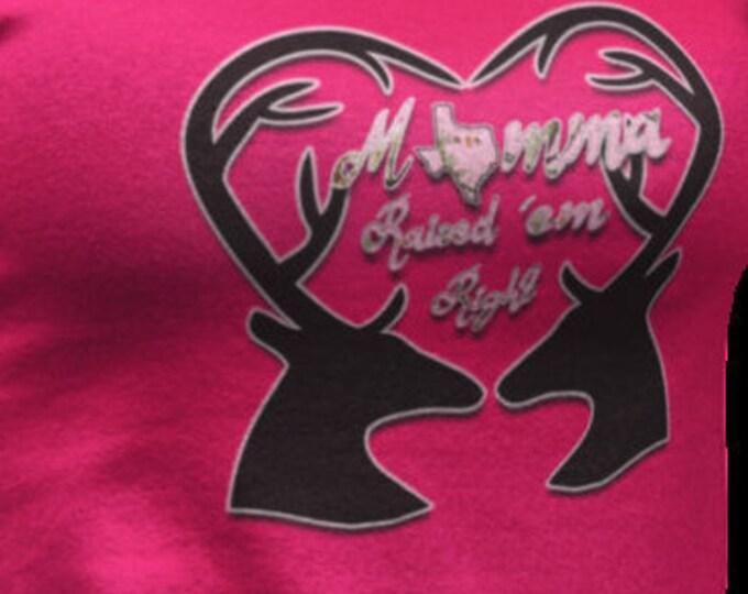 Texas woman, momma shirt, momma raised 'em right, raised right shirt!