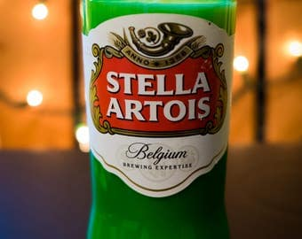 Stella Artois Beer Bottle Soy Candle