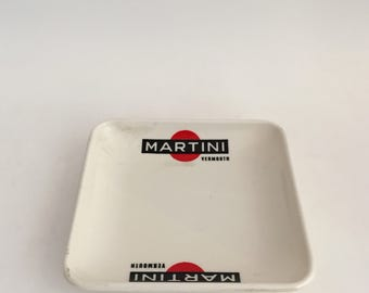 Vintage MARTINI Plastic Change Tray Made in Italy Trinket Tray / Ramasse-Monnaie Vintage MARTINI Made in Italy Vide-Poches