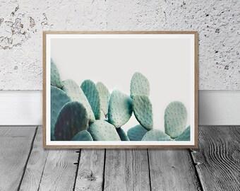 Cactus Wall Art - Cacti Print, Digital Download, Pastel Decor, Southwestern Room Decor, Large Cactus Printable, Nursery Wall Art, Boho Print
