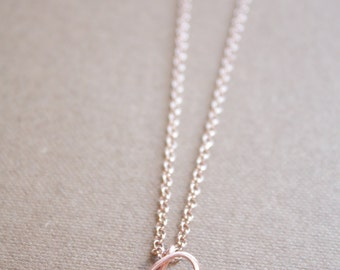 Letter P Necklace Silver Gold Rose Gold Initial Necklace Cursive Letter Necklace, Lowercase Initial Necklace, Personalized Necklace, Di & De
