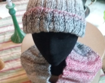 Flat Top Knit Ribbed Hat 2
