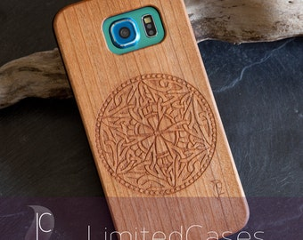 "Case for Samsung Galaxy S6 with cherry Edition, laser-engraved ""Node ornament"""