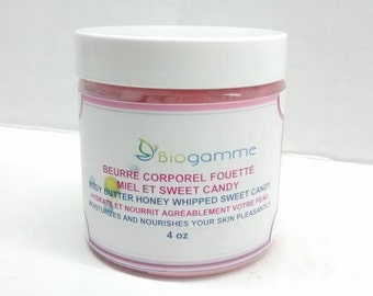Body Butter Whipped with Shea Butter and Honey / Dry and Damaged Skin / After Sun Cream / Intense Moisturizer / Cracked Heel