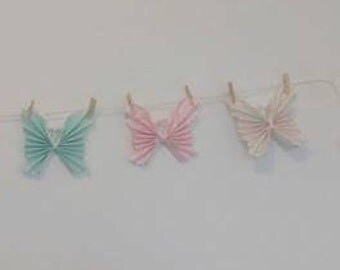 Origami Butterfly Bunting, Little Girls Room, Girls Nursery, Girls Bedroom, Girls Room Decor, Home Decor, Kitchen Decor, Butterfly Decor