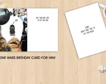 Star Wars Birthday Card For Him - Greeting Card - Valentine Card - Pun Card
