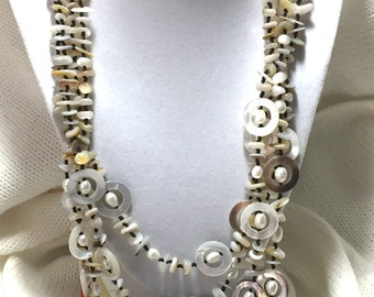 Mother of Pearl Multi Strand Necklace