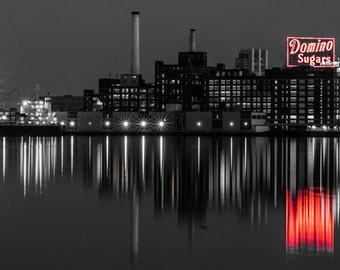 Baltimore Inner Harbor Domino Sugars Plant Selective Color Print