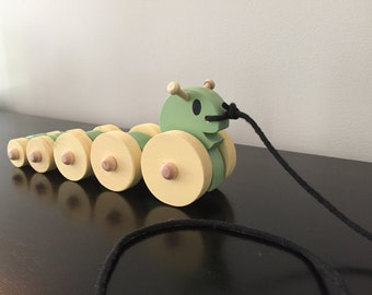 Caterpillar Pull Toy (painted)