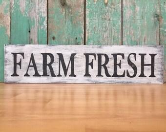 Farm Fresh Sign - Rustic Farmhouse Decor - Farmhouse Kitchen - Farmhouse Kitchen Decor - Farmhouse Kitchen Sign - Farmhouse Home Decor