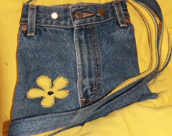 Cross Body Recycled Denim bag
