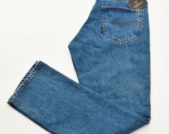 Valentino 80s vintage denim jeans medium wash 100% cotton pants man tg. 33 male high waisted