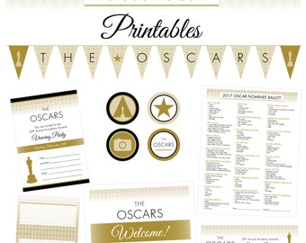 Oscars Party 2017 Printables