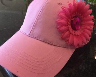 Women's Baseball Cap with Flower