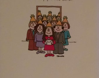 1985 Cathy Guisewite Comic HAPPY BIRTHDAY Office Party Recycled Paper Products, Inc Greeting Card