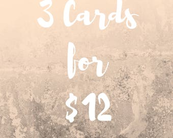 Greeting Card Set - 3 Cards for 12 dollars