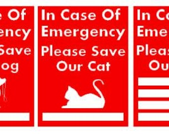 Save My Pet Emergency Stickers
