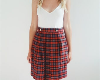 High wasted pinafore skirt
