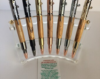 Bolt Action Bullet Pen made with Olive wood from Bethlehem/Jeruselem