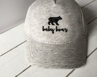 BABY BEAR | Baby Hat Infant Hat Baby Baseball Hat Infant Baseball Hat
