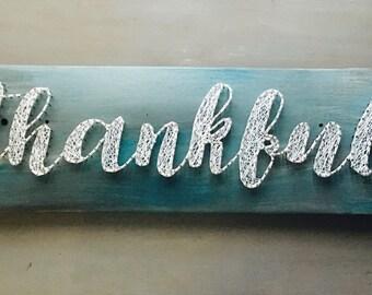 skateboard / string art / thankful / unique gifts / skateboard art / wall decor / home decor / gifts for home / wedding gifts / skate