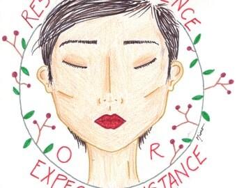 Respect Existence Illustration - DIGITAL FILE ONLY
