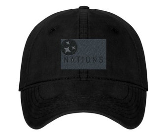 The Capitol Company 'Nations' Unstructured Baseball Cap//Nashville Southern Activewear-Black or Grey