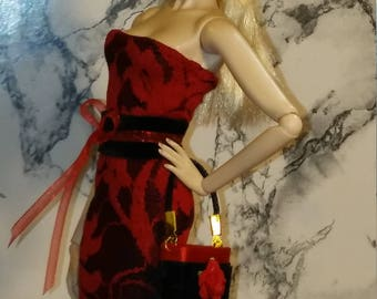 Red and black clothing for fashion Royalty (FR2, Monogram, etc), Barbie, Silkstone...