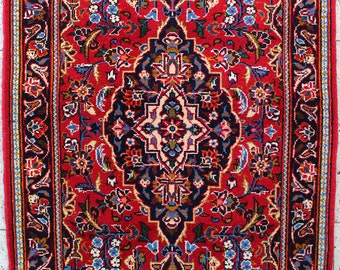128 x 70 cm (4.2 x 2.3 ft) Lori, vintage carpet, Persian rug, hand made oriental rug, hand knotted, old, wool.