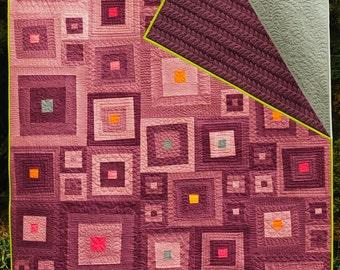 """Homemade Modern Quilt - """"Ombre Hombre"""""""