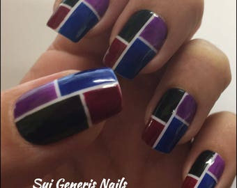 False Nails Geometric Multi Dk- Quality!