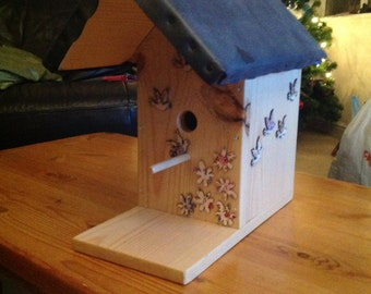 Bespoke handmade wooden birdhouse