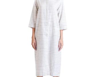 Susanne Calf-Length Shirt Dress