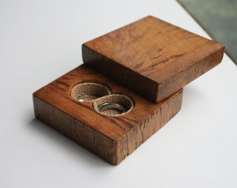 Ring Bearer Box - Infinity Wedding Ring Box - Personalised Jewellery Box - Reclaimed Timber