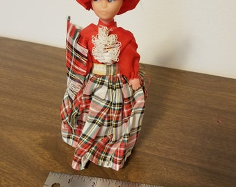 Vintage Scottish Doll in Traditional Costume