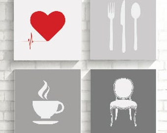 Printable art, Kitchen art, Digital Art, coffee Art, Digital Download, restaurent Art, chair Art, Workspace Art