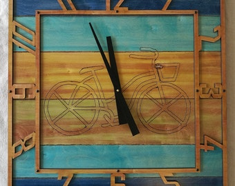 Beachy Bicycle Clock 11