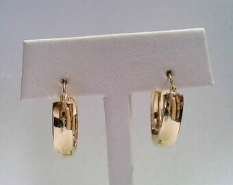 Vintage Estate 14K Yellow Gold Hinged Hoop Earrings