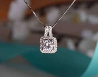 Cubic Zirconia Sterling Silver Necklace, Sterling Silver Necklace, Silver Necklace,  Sterling Silver, .925 Necklace, Gift For Her