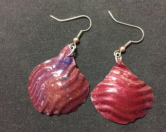 Ridged Shell (Copper and Enamel)