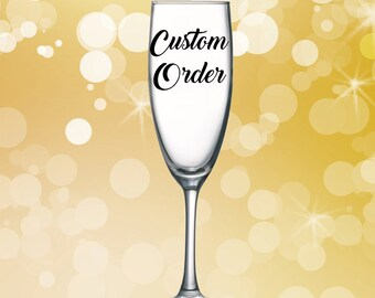 Customized Champagne Glass
