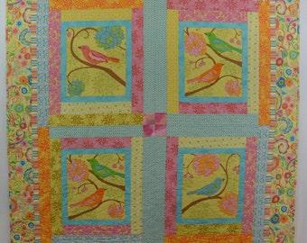 Sweet Spring Bird Quilt
