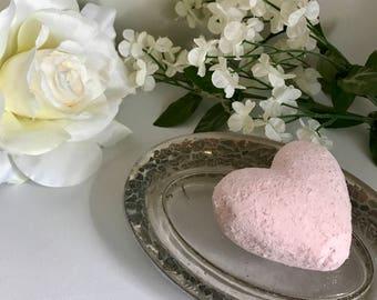 Pink Heart Shaped Bath Bomb