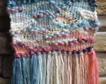 Colorful Homemade Wall Weaving