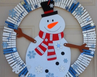22inch Let it Snow/Snowman wreath