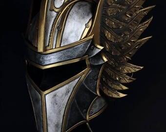 Leather fantasy helmet