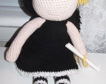 Crochet graduation doll