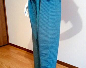 KIMONO thai pants(fisherman pants) Recycled kimono -T0001-