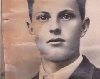 man portret Antique Sepia Photo Instant Art