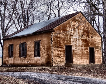 Rustic Church Photography, Rustic Church Picture, Abandoned Church Photography, Abandonned Church Photo, Rustic Decor, Rural Photography